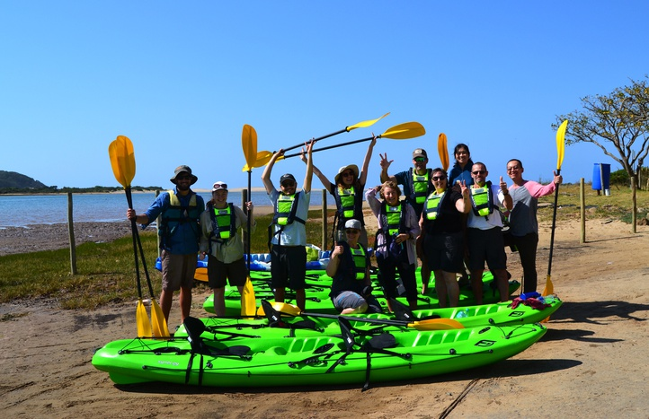 Kayak tours in Kei Mouth, Morgan Bay and Double Mouth. Wild Coast, Eastern Cape, South Africa.